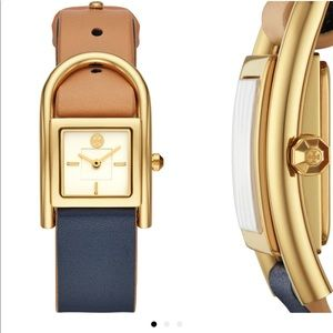 Tory Burch Thayer Leather Watch